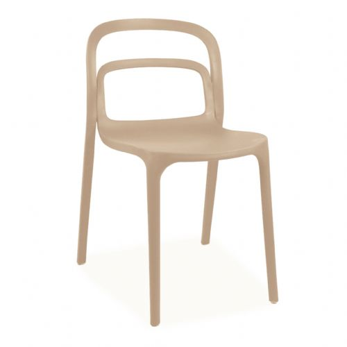 Plastic Stackable Cream Smith2 Chairs
